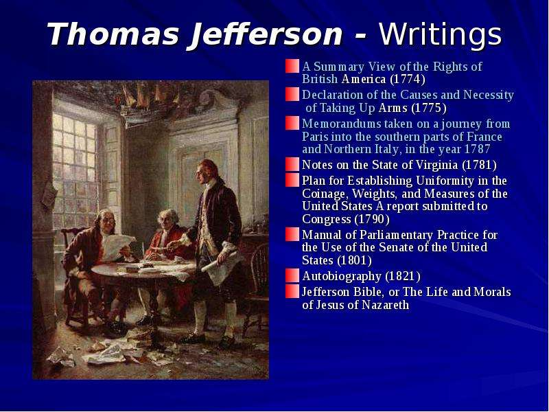 a look into life and accomplishments of thomas jefferson Thomas jefferson was elected into the house of burgesses in 1768 the house of burgesses was a legislative group in the american colonies while serving in the house of burgesses jefferson wrote a summary view of the rights of british america, which is one of jefferson's greatest works.