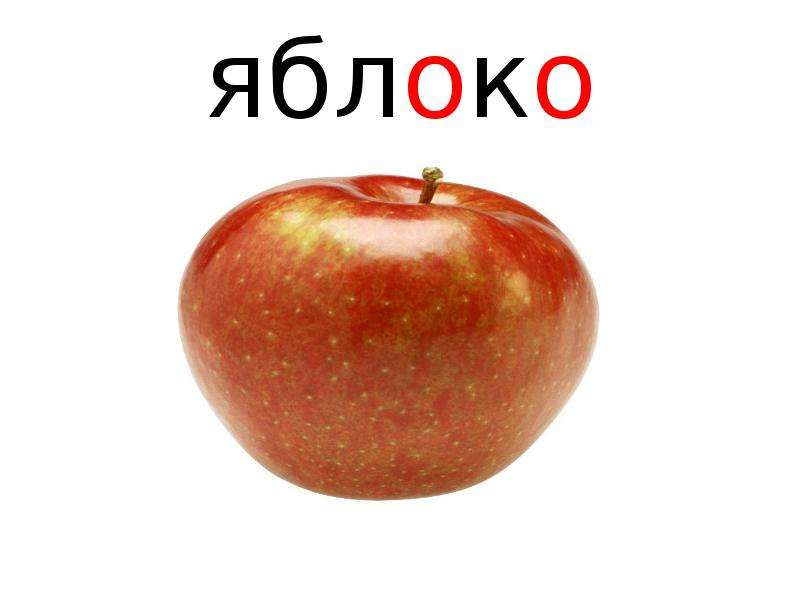 такое знакомое слово яблоко