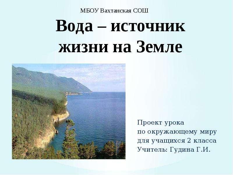 Доклад источники воды на земле 4093