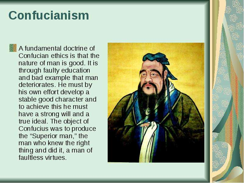 confucianism and the two elements of confucian views