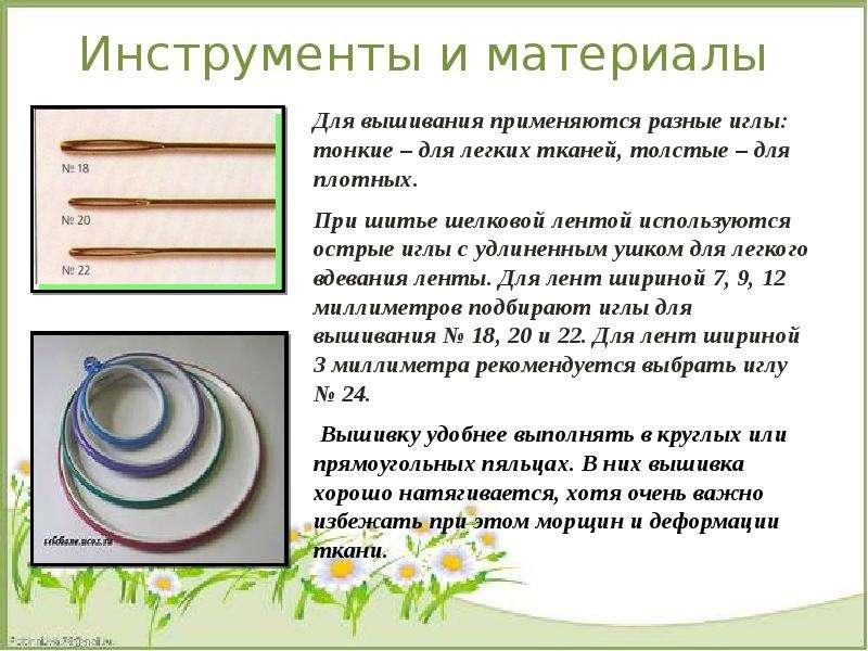 Презентация по вышивки из лент