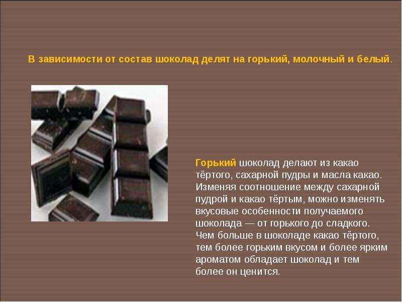 Как сделать шоколад горький