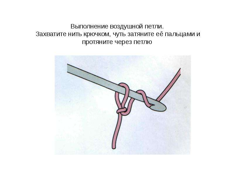 Как сделать воздушную петлю крючком - Temperie.Ru