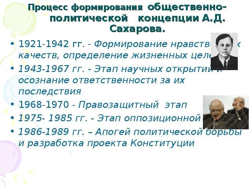 Процесс формирования общественно-политической концепции А. Д. Сахарова. 1921-1942 гг. - Формирование