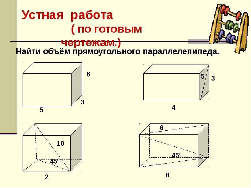 По геометрии Объемы геометрических тел, слайд 10