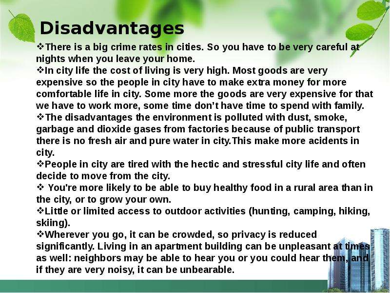 Essay On Advantages And Disadvantages Of Village And City Life  Essay On Advantages And Disadvantages Of Village And City Life   Criticismlearnersgq