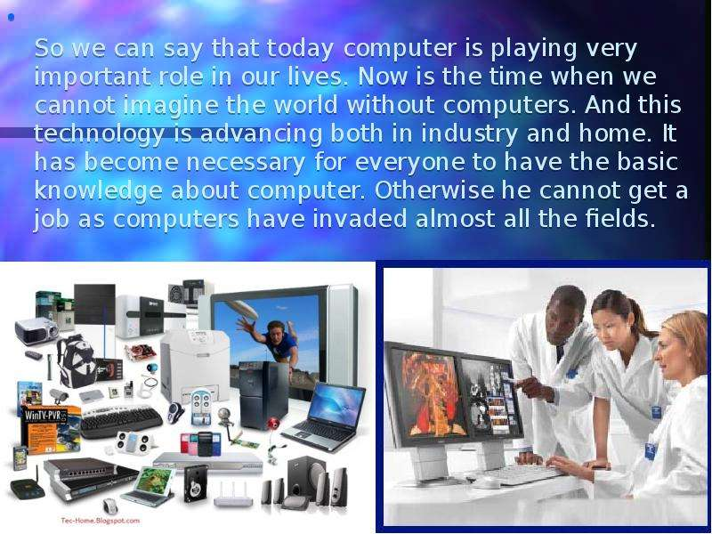 the importance of computer in the modern world