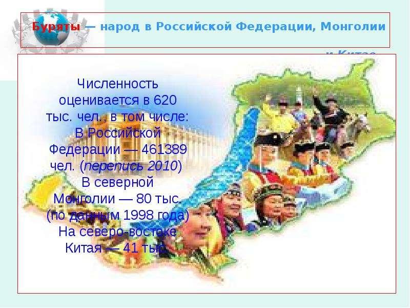Буряты — народ в Российской Федерации, Монголии и Китае