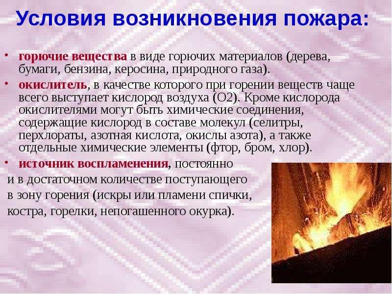 Условия воспламенения и сгорания газового топлива