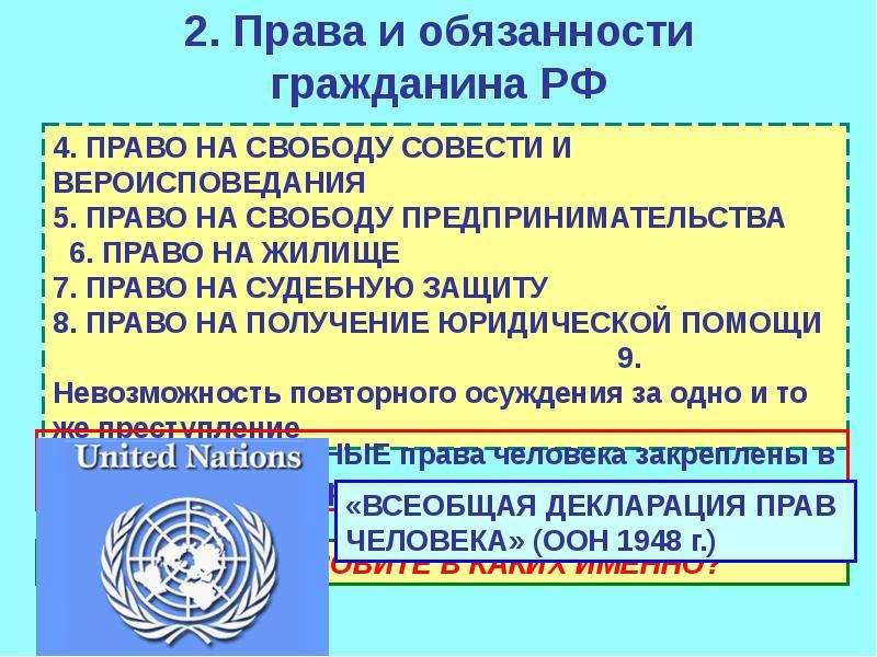 Права и обязанности человека и гражданина реферат