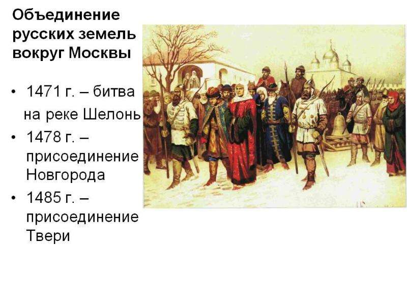 Таблица объединение русских земель в 14-15 веках