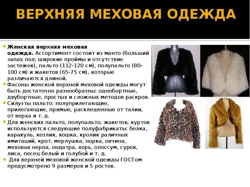 Названия Женской Одежды