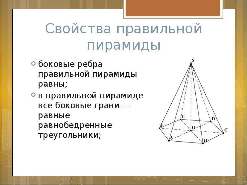 свойства пирамид картинки только