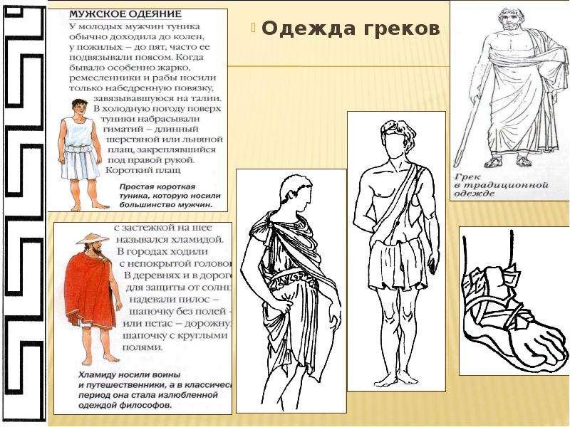Как назывались одежды греков