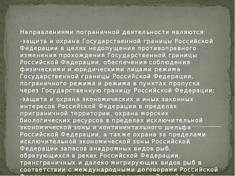 Аннотация Шпаргалка Защита И Охрана Государственной Границы