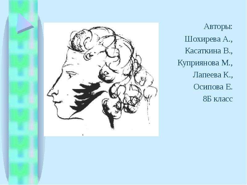 Авторы: Авторы: Шохирева А. , Касаткина В. , Куприянова М. , Лапеева К. , Осипова Е. 8Б класс