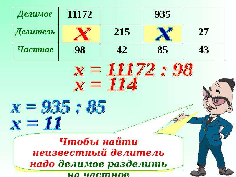 Примеры на деление больших чисел