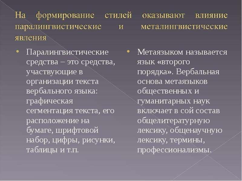 Паралингвистические средства – это средства, участвующие в организации текста вербального языка: гра