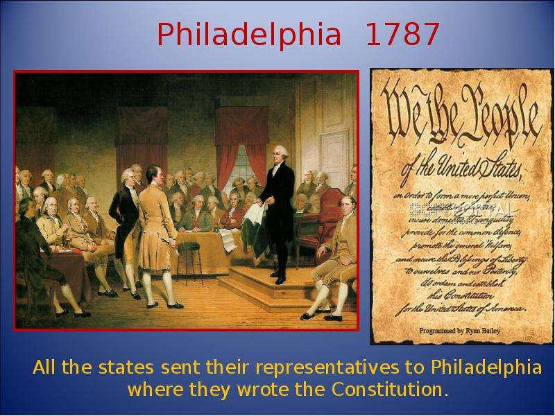 an analysis of the philadelphia convention and the constitution of the united states of america Constitution study guide i united states constitution page 3 between the small states and the large states at the constitutional convention.