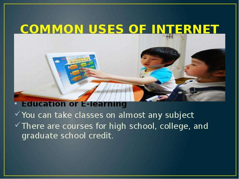 internet in education essay