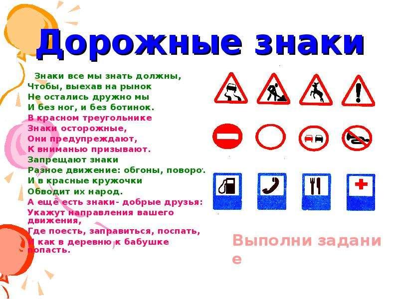 Информация и картинки о дорожных знаках