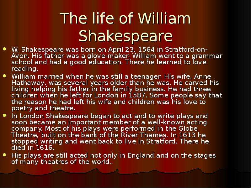 a life and writings of william shakespeare