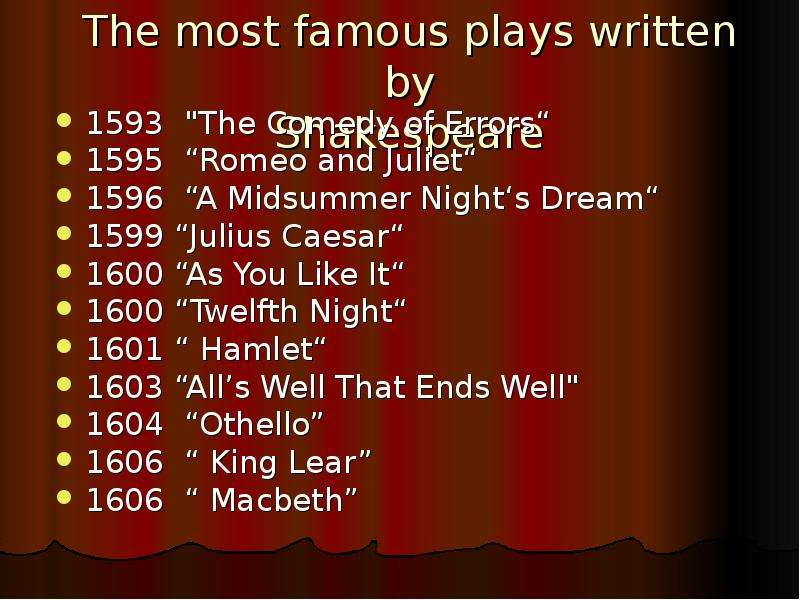 a comparison of william shakespeares plays a midsummer nights dream and romeo and juliet