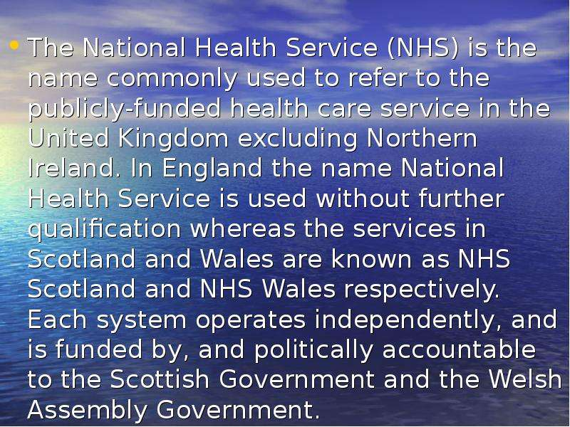 national health service in the united kingdom essay - the impact of different party system configurations on health care reform in the united kingdom and germany introduction the labour party in the united kingdom (uk) continues to come under fire the national health service (nhs) reform that has been carried since 1997 scroll reap endless wave of protests.