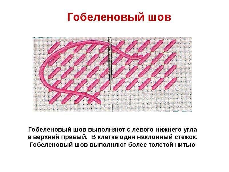 Гобеленовый крестик в вышивке 36