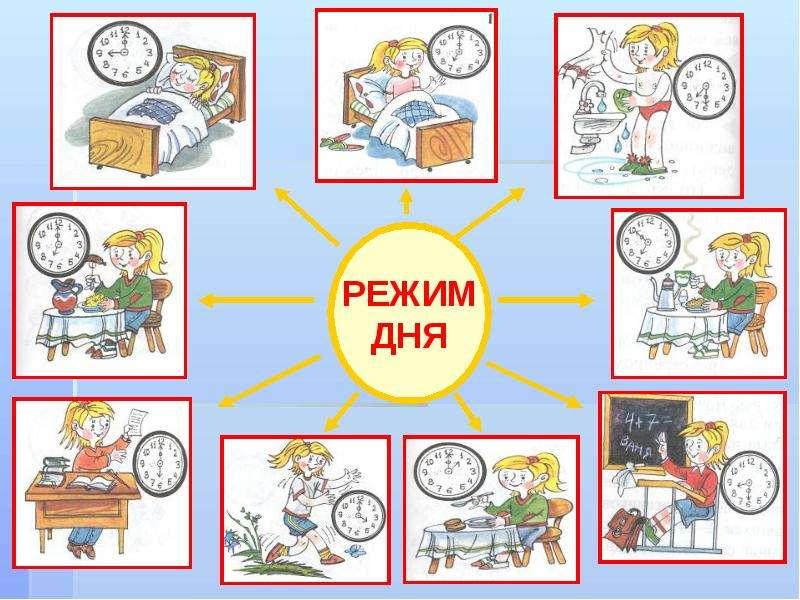 режим дня в школьника в картинках