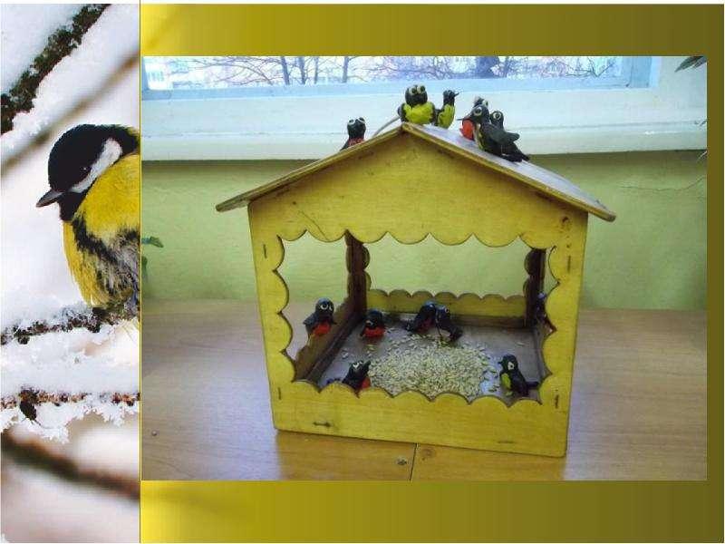 Поделка птицы зимующие 5