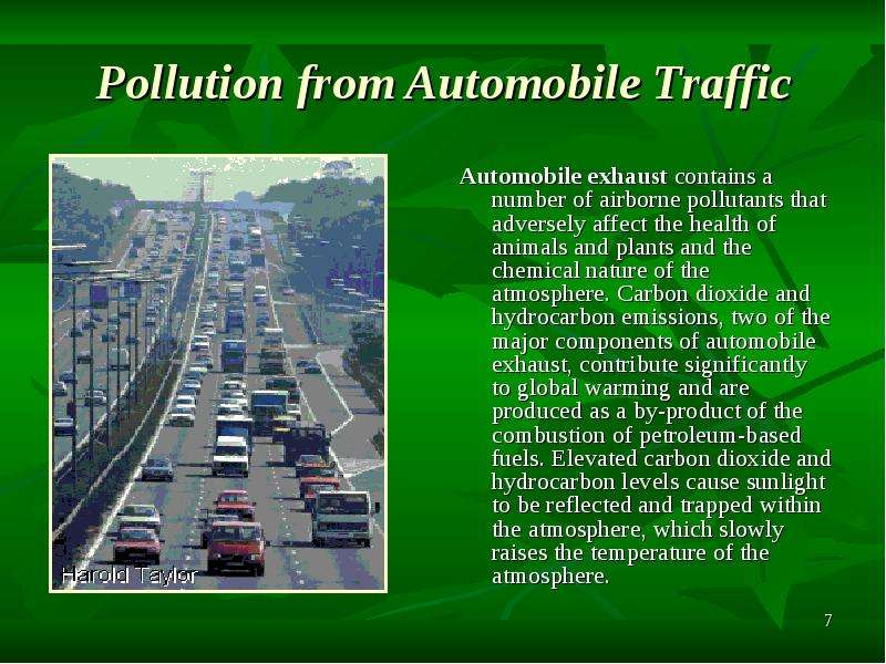 an overview of the pollution from automobile and the effects on the environment Car pollution essay examples pollution from automobile and the effects on the environment problem and an overview of the car pollution poem by.