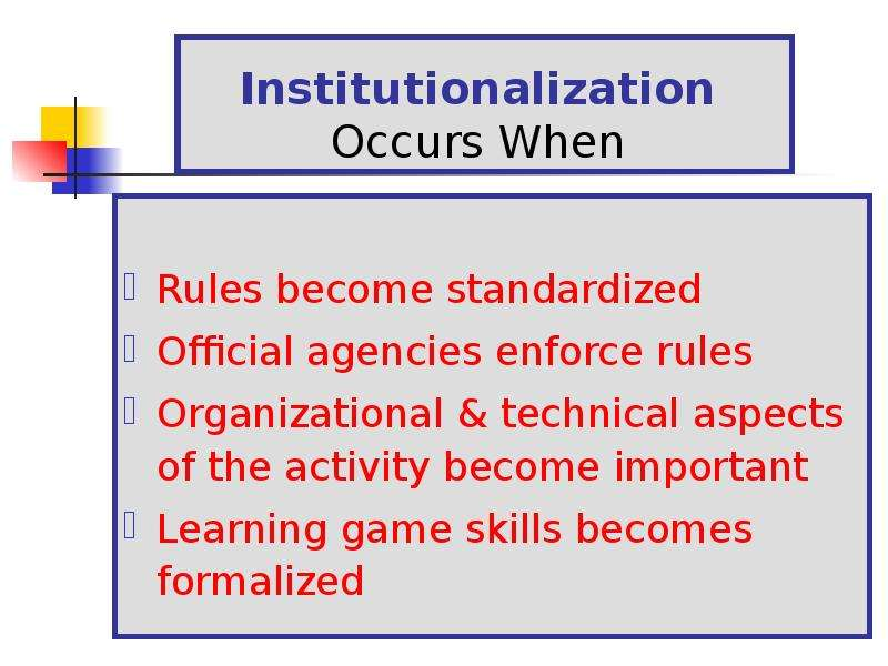 the rule of sport in our society Social and cultural theories are often used when studying and applying knowledge to sports the theories in society often provide a framework for.