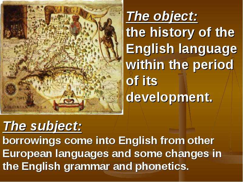 periods in the development of english 1 chronology the history of english can be divided into four periods: 1) the germanic period, the period from prehistory to the middle of the 5th century ad, when all germanic tribes lived on the european mainland.