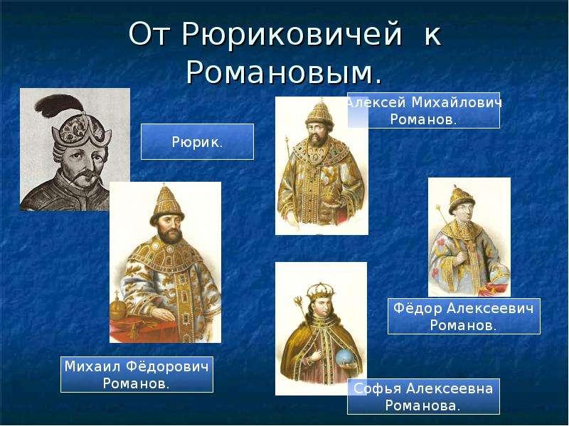 От Рюриковичей к Романовым.