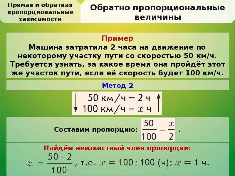 правило по математике обратная задача это нет необходимости