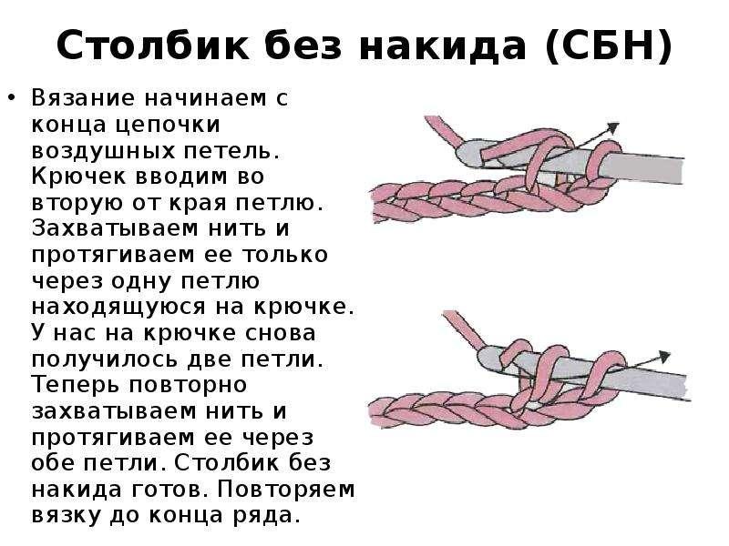Вязание крючком столбиком без накида 85
