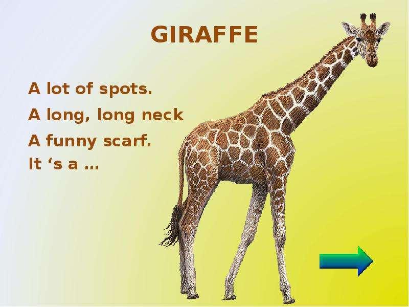 Жираф стих на английском