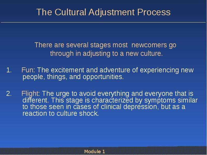 cultural adjustment essay (huang, 2006), articulating their knowledge on essay professors on the linguistic/cultural international students' adjustment problems and.