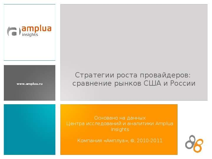 Презентация Стратегии роста провайдеров: сравнение рынков США и России