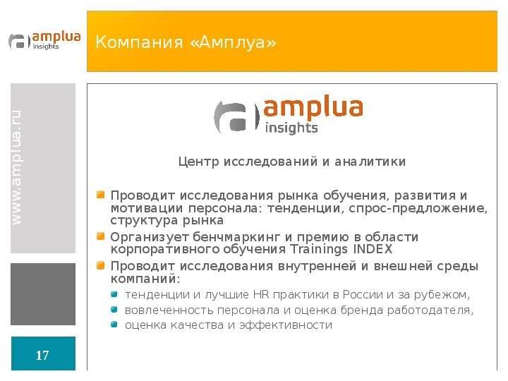 Компания «Амплуа»