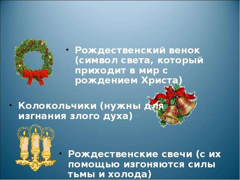 Рождественский венок (символ света, который приходит в мир с рождением Христа) Рождественский венок