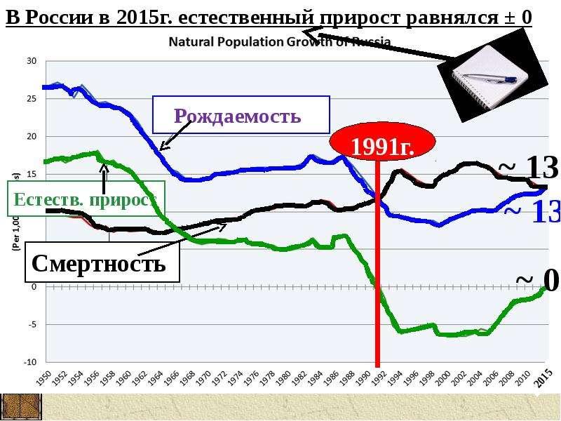 Воспроизводство населения в России, слайд 13