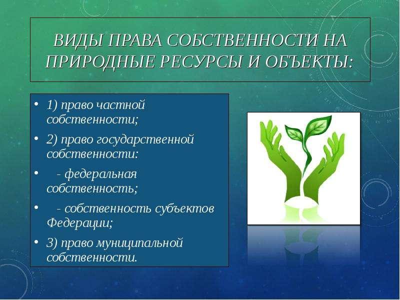 природные объекты государственной собственности в россии все