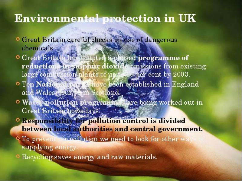 protection of environment existence of human beings Environmental pollution on one hand and deforestation, soil erosion, population explosion, global warming inference in ecosystem and biosphere on the other are threatening the very existence of life on the earth.