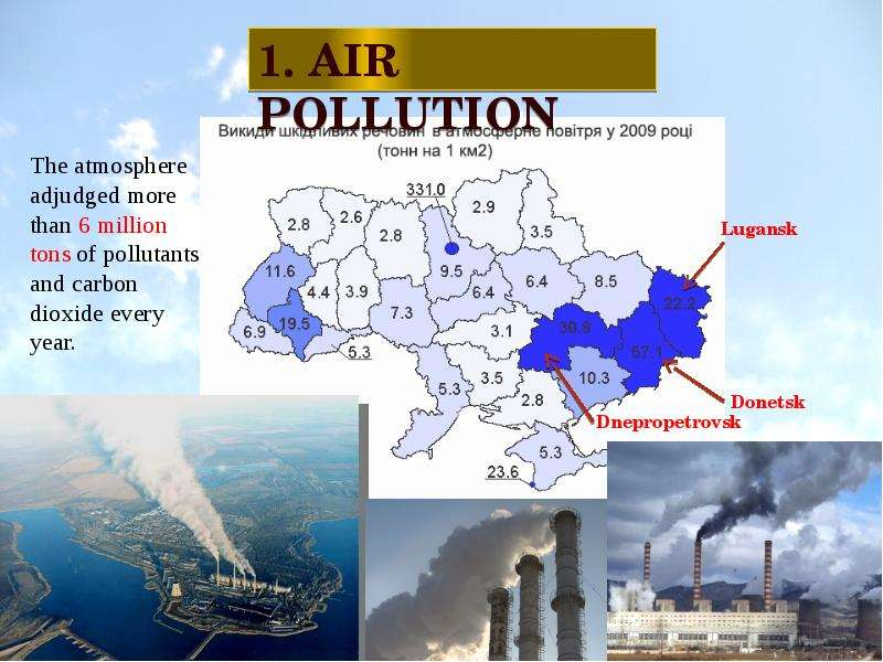 an analysis of the air polution problem and the causes for air polution
