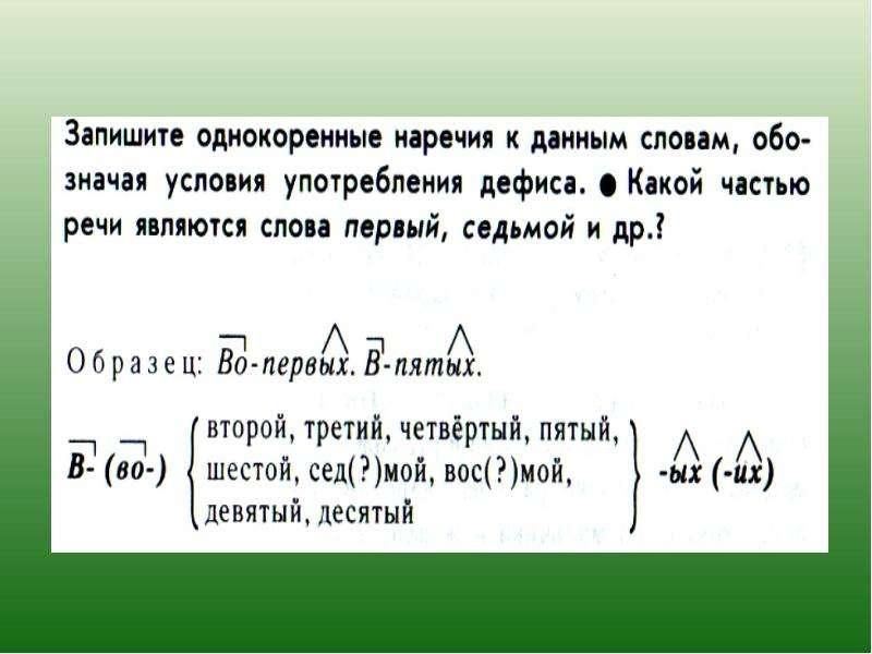 Дефис между частями слова в наречиях, рис. 4