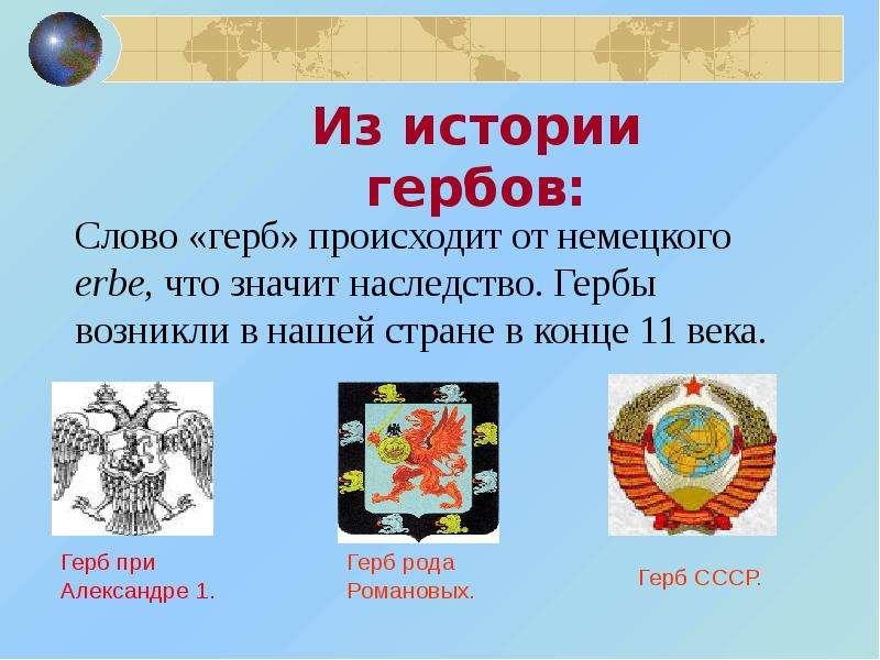 Презентация по теме гербы