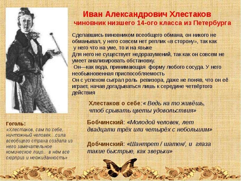 сочинение на тему познакомьтесь иван александрович хлестаков