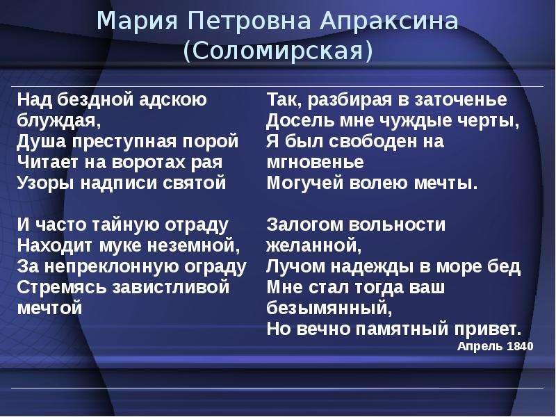 Мария Петровна Апраксина (Соломирская)